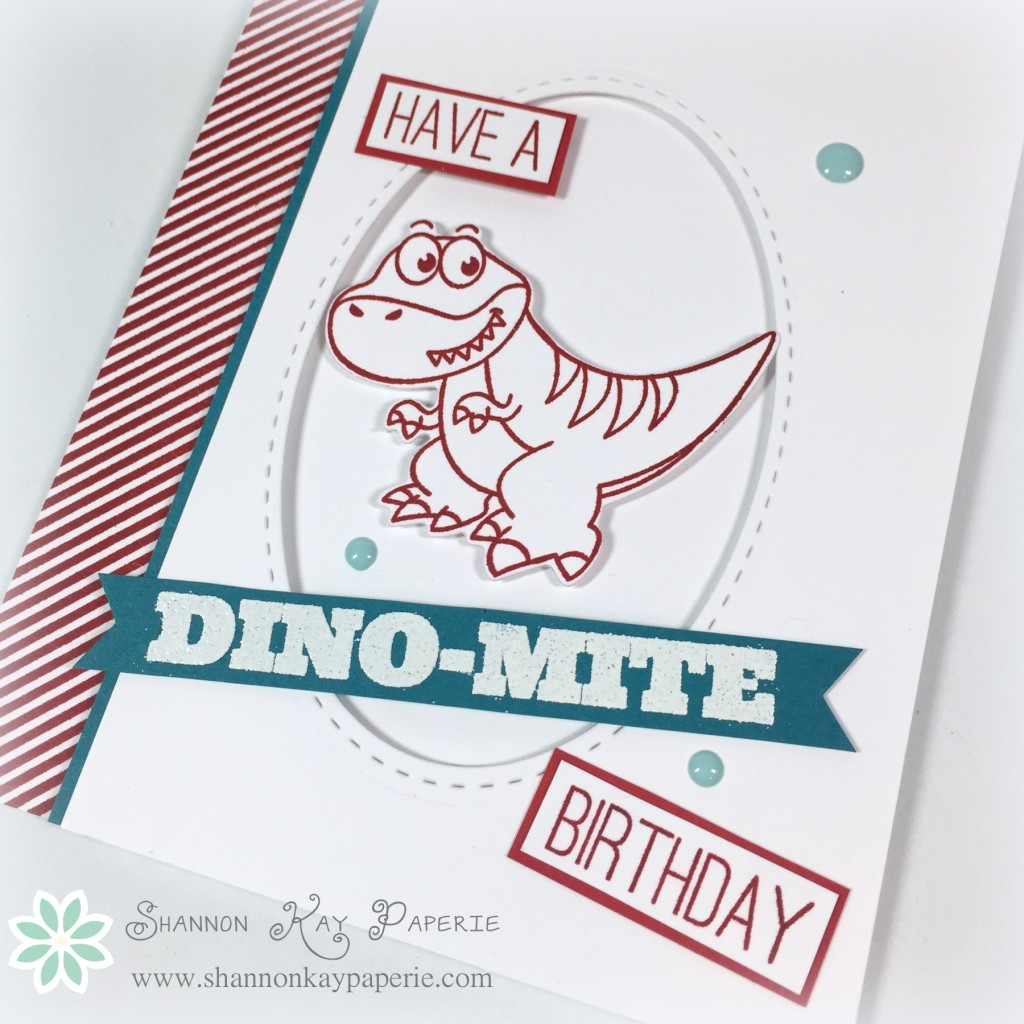 "A ""Dino""mite Birthday - The Paper Players 249b"