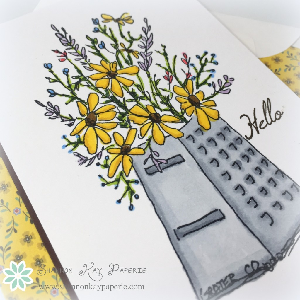 Cheerful Bouquet - Stamp, Ink, Paper #8
