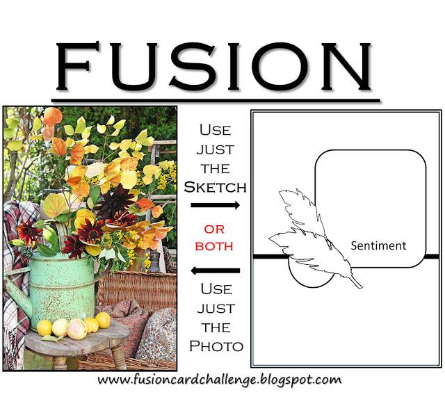 Warm Autumn Wishes - Fusion Card Challenge