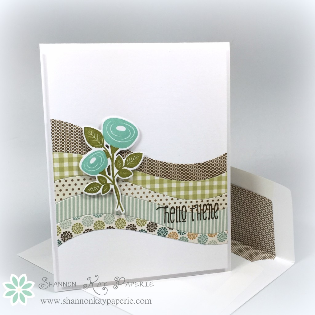 Bitty Bouquets - Warm Welcome Fusion Card Challenge