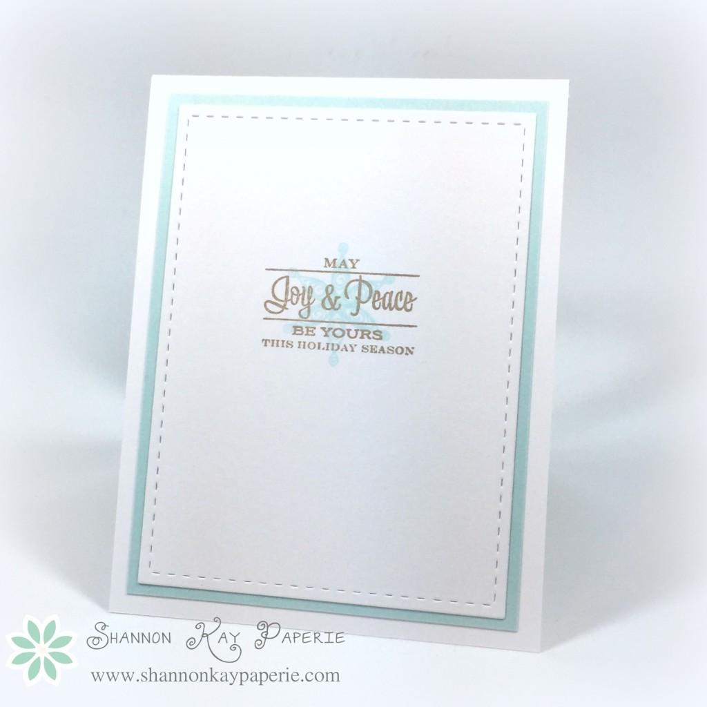 Blue Christmas Fusion Card Challenge
