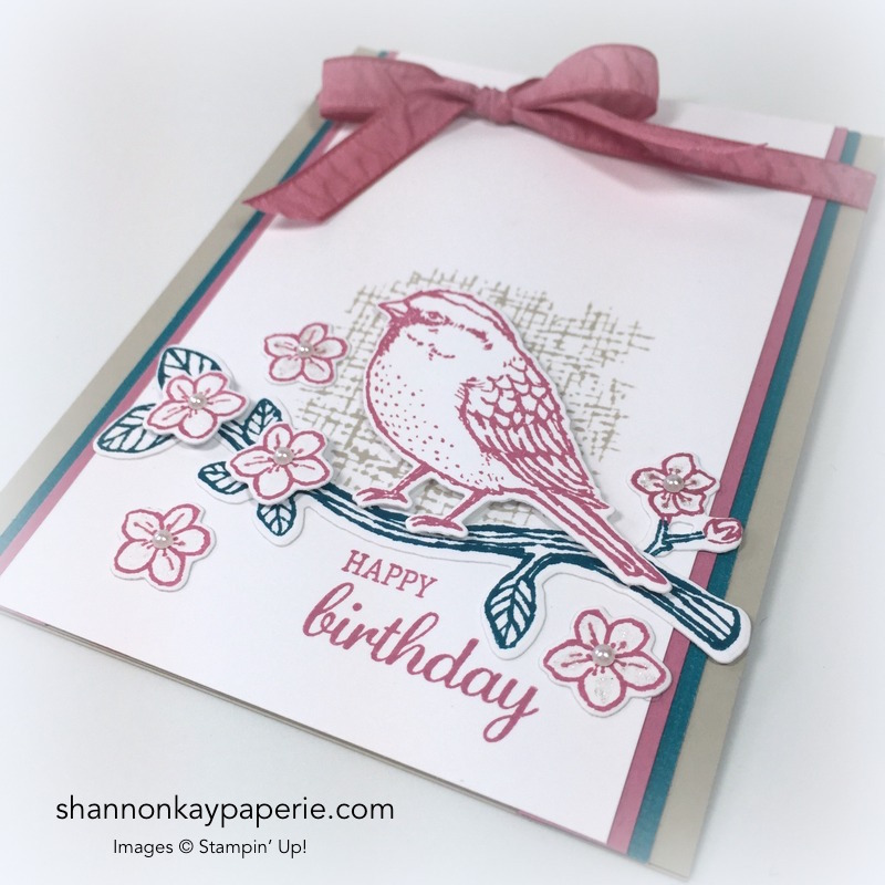 Stampin Up Best Birds Birds & Blooms Card Ideas - Shannon Jaramillo Stampinup