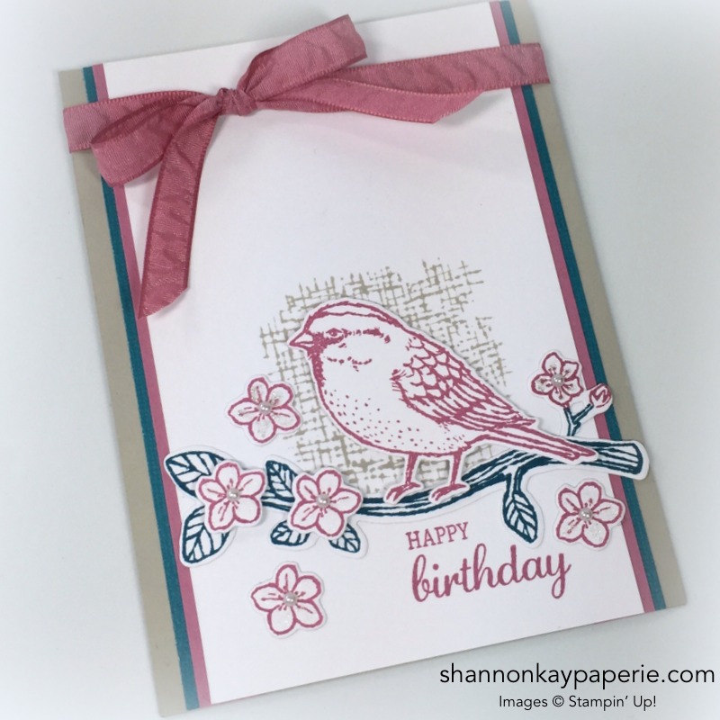 Stampin Up Birds & Blooms Card Idea - Shannon Jaramillo Stampinup