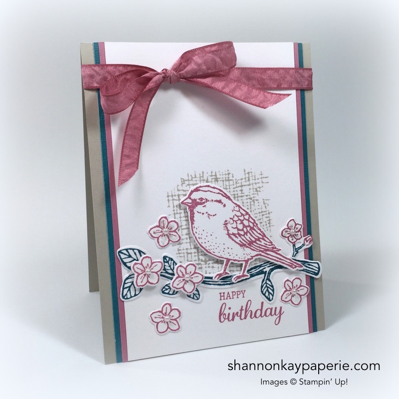 Stampin Up Birds & Blooms Card Ideas - Shannon Jaramillo Stampinup