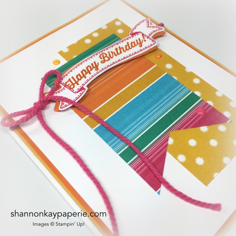 Stampin Up Birthday Banners Card Idea - Shannon Jaramillo Stampinup