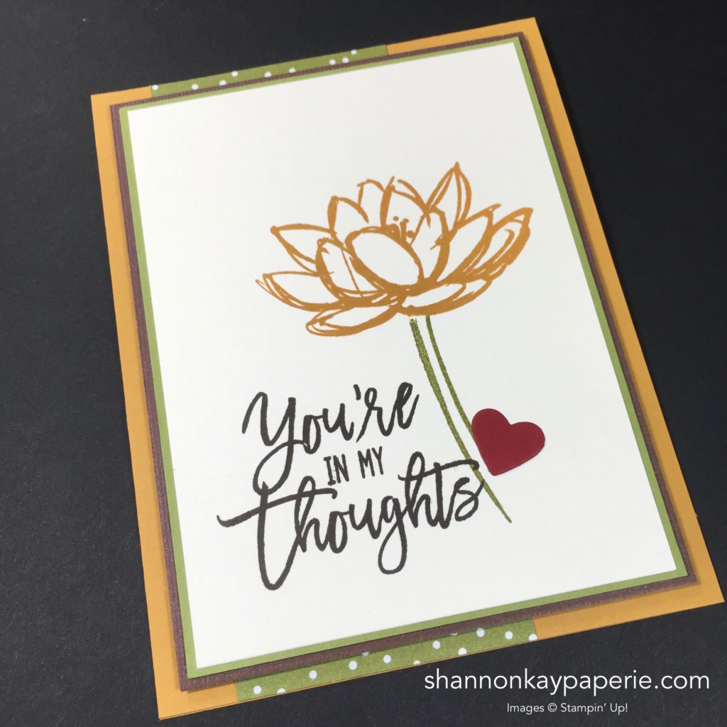 Stampin' Up! Remarkable You Thinking of You Card Ideas - Shannon Jaramillo Stampinup