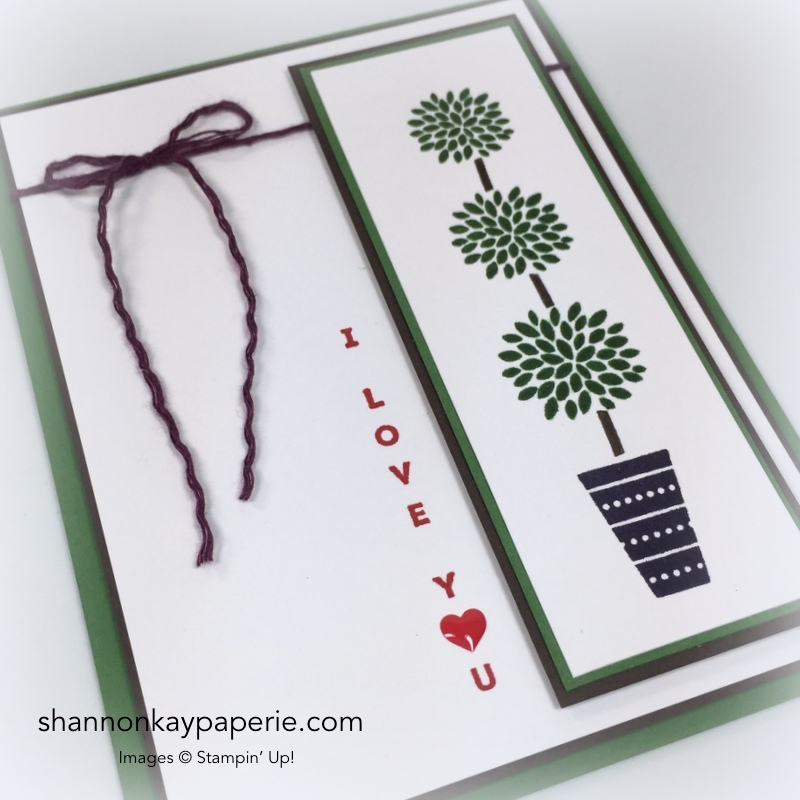 Stampin Up Vertical Greetings Card Idea - Shannon Jaramillo Stampinup