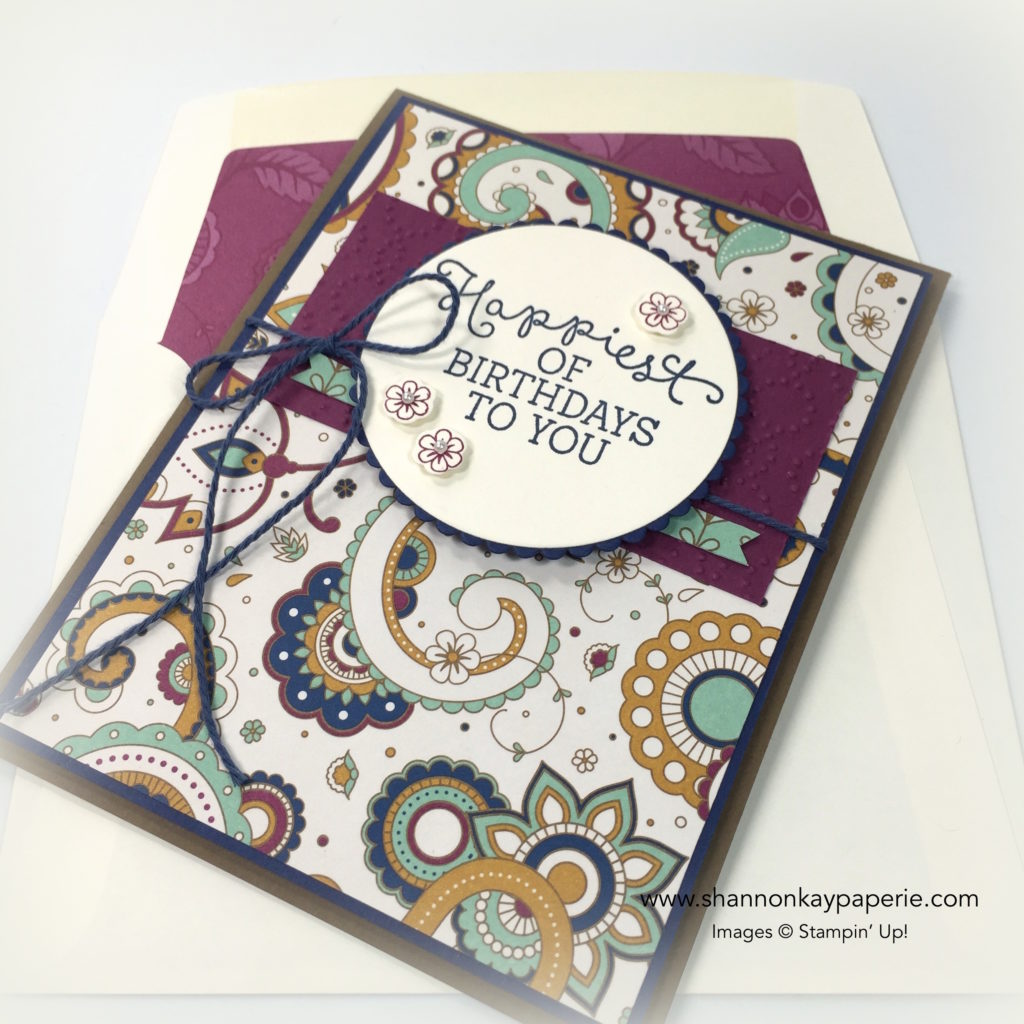 Petals & Paisleys Birthday Blooms Birthday Card Ideas - Shannon Jaramillo Stampinup