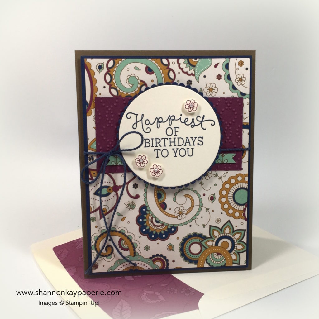 Petals & Paisleys Birthday Blooms Birthdays Card Ideas - Shannon Jaramillo Stampinup