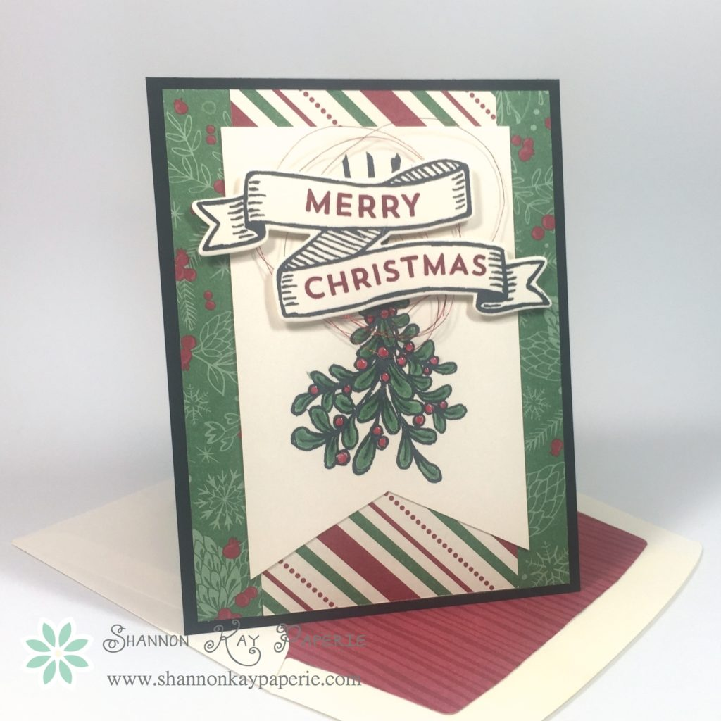 Stampin Up Banners for Christmas Card Idea - Shannon Jaramillo Stampinup