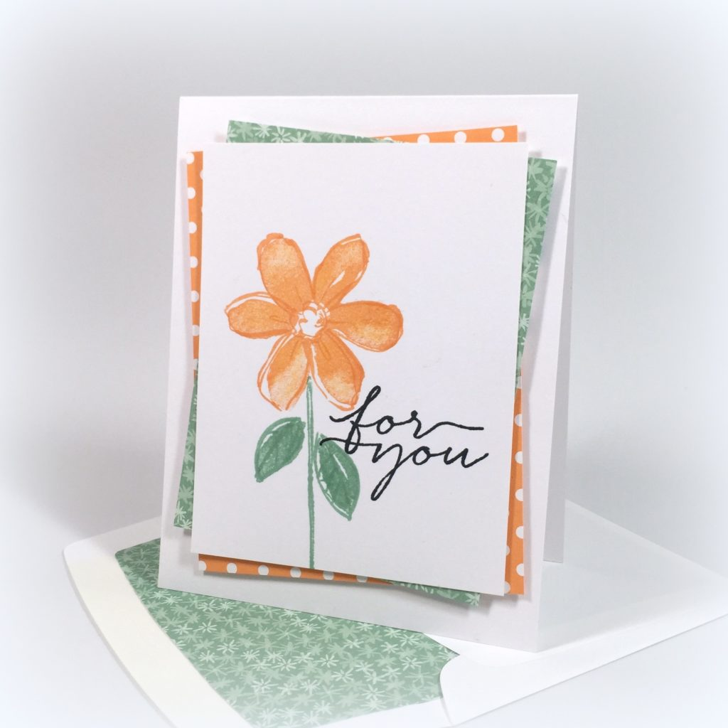 Stampin Up Garden in Bloom Just Because Card Idea - Shannon Jaramillo Stampinup
