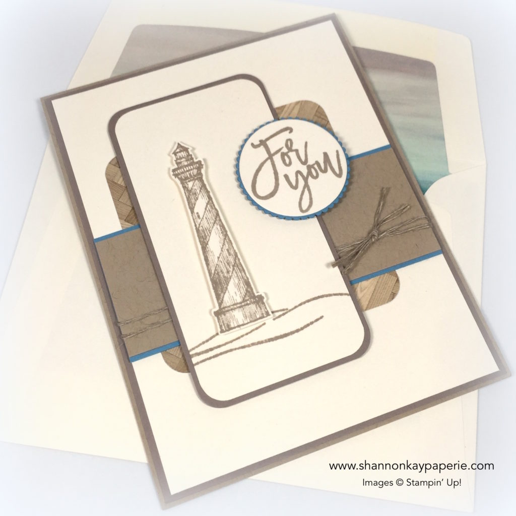 Stampin Up Masculine Land to Sea Card Idea - Shannon Jaramillo Stampinup