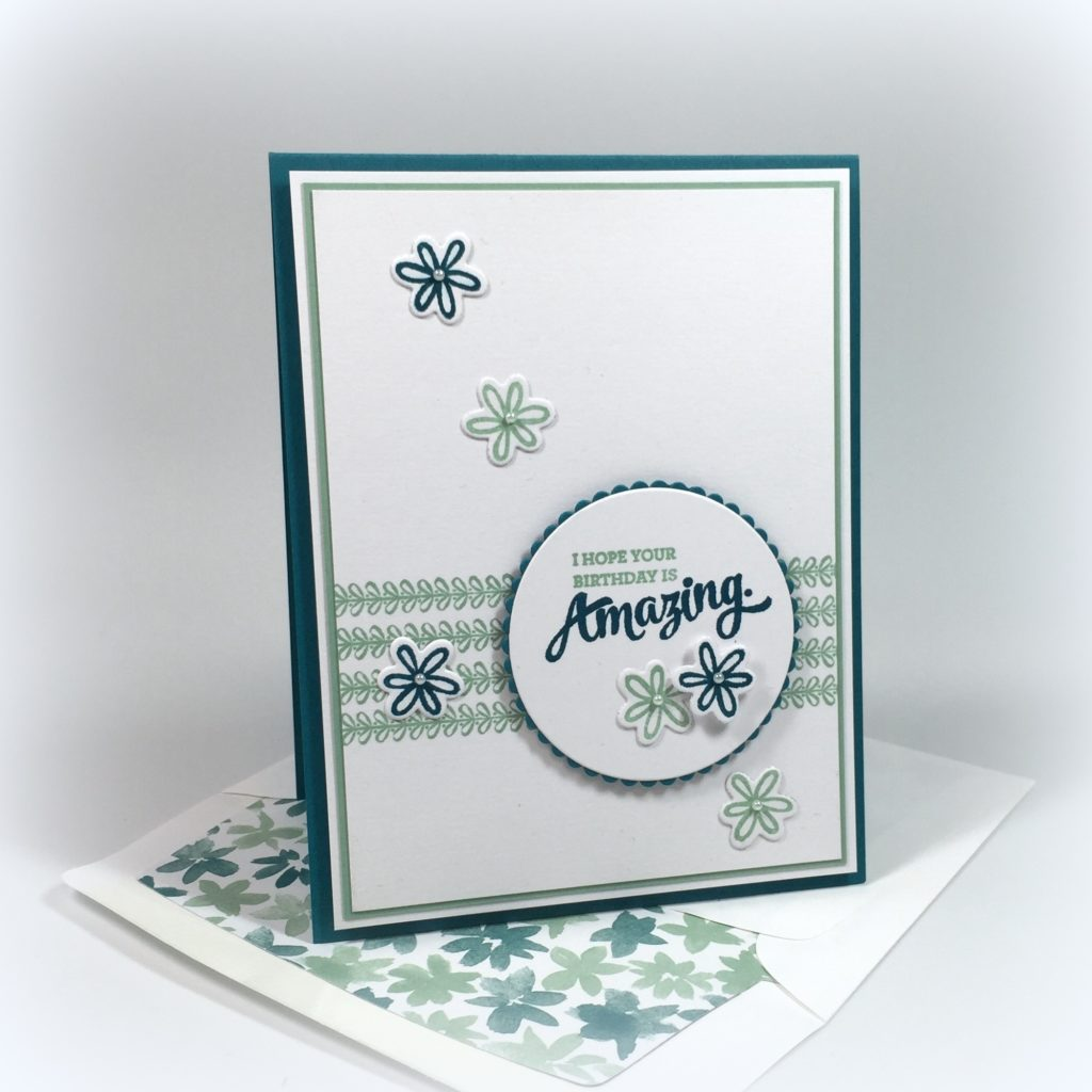 Stampin Up Mixed Border Birthday Card Ideas - Shannon Jaramillo Stampinup