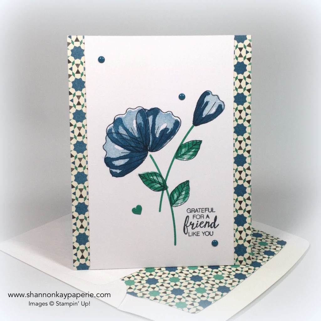 Stampin Up Moroccan Blossoms in Dapper Denim Card Idea - Shannon Jaramillo stampinup