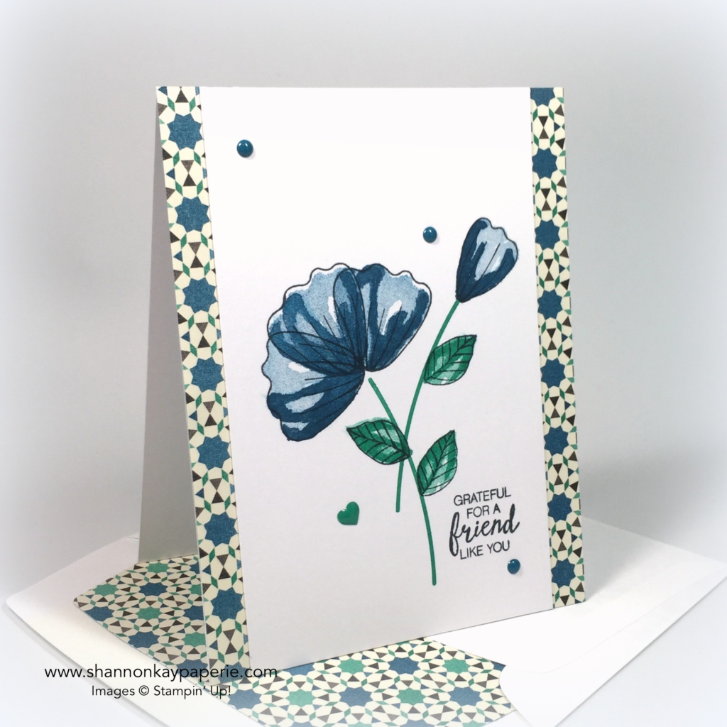 Stampin Up Moroccan Blossoms in Dapper Denim Card Ideas 2 - Shannon Jaramillo stampinup