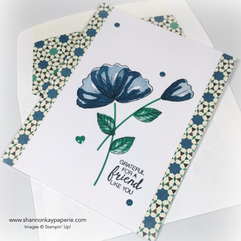 Stampin Up Moroccan Blossoms in Dapper Denim Card Ideas 3 - Shannon Jaramillo stampinup