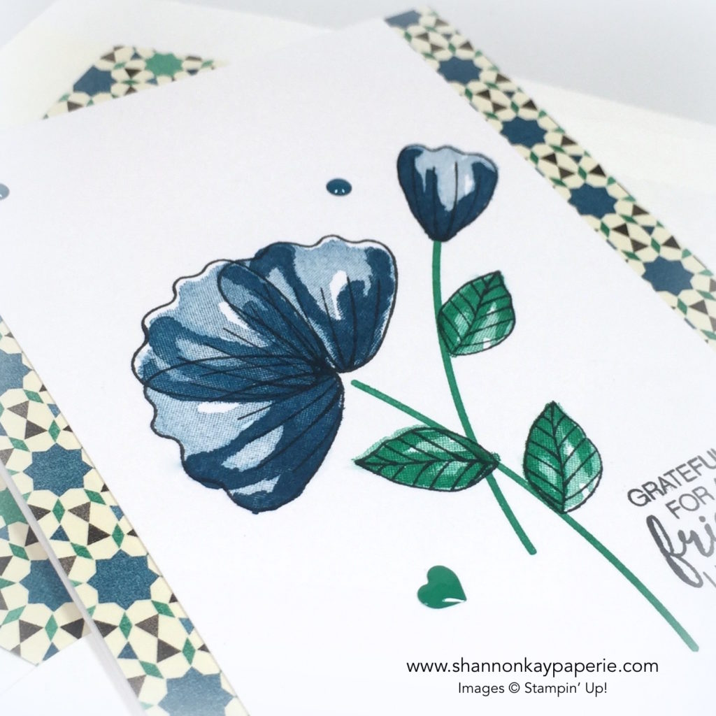 Stampin Up Moroccan Blossoms in Dapper Denim Card Ideas 4 - Shannon Jaramillo stampinup