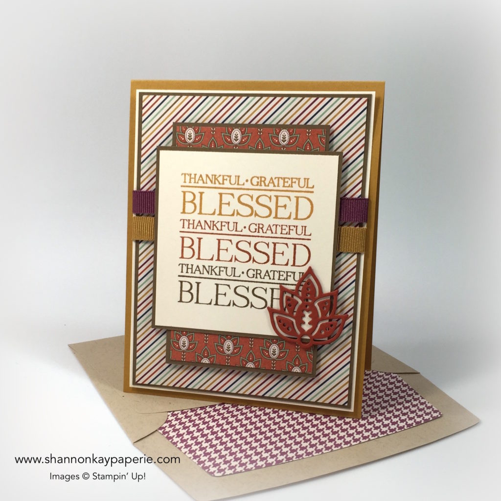 Stampin Up Paisleys & Posies Thank You Card Idea - Shannon Jaramillo Stampinup