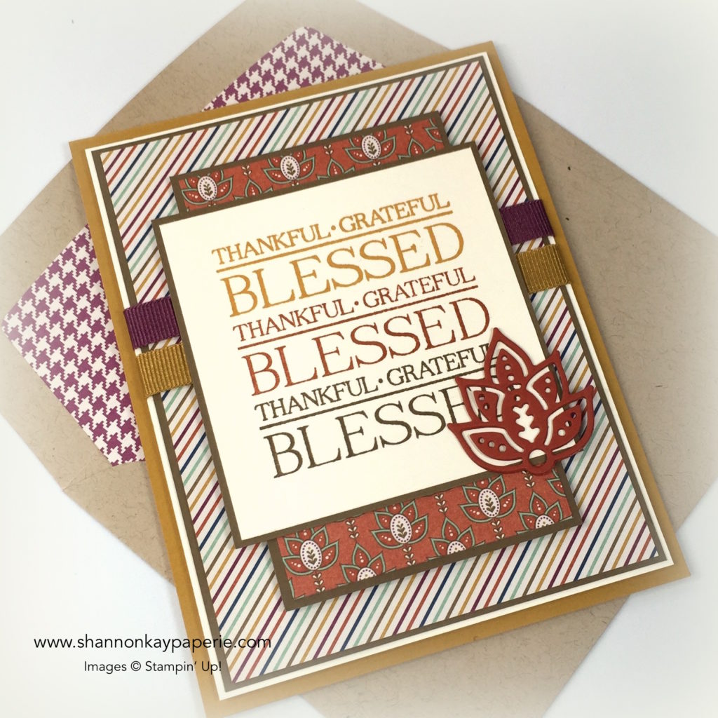 Stampin Up Paisleys & Posies Thank You Cards Idea - Shannon Jaramillo Stampinup