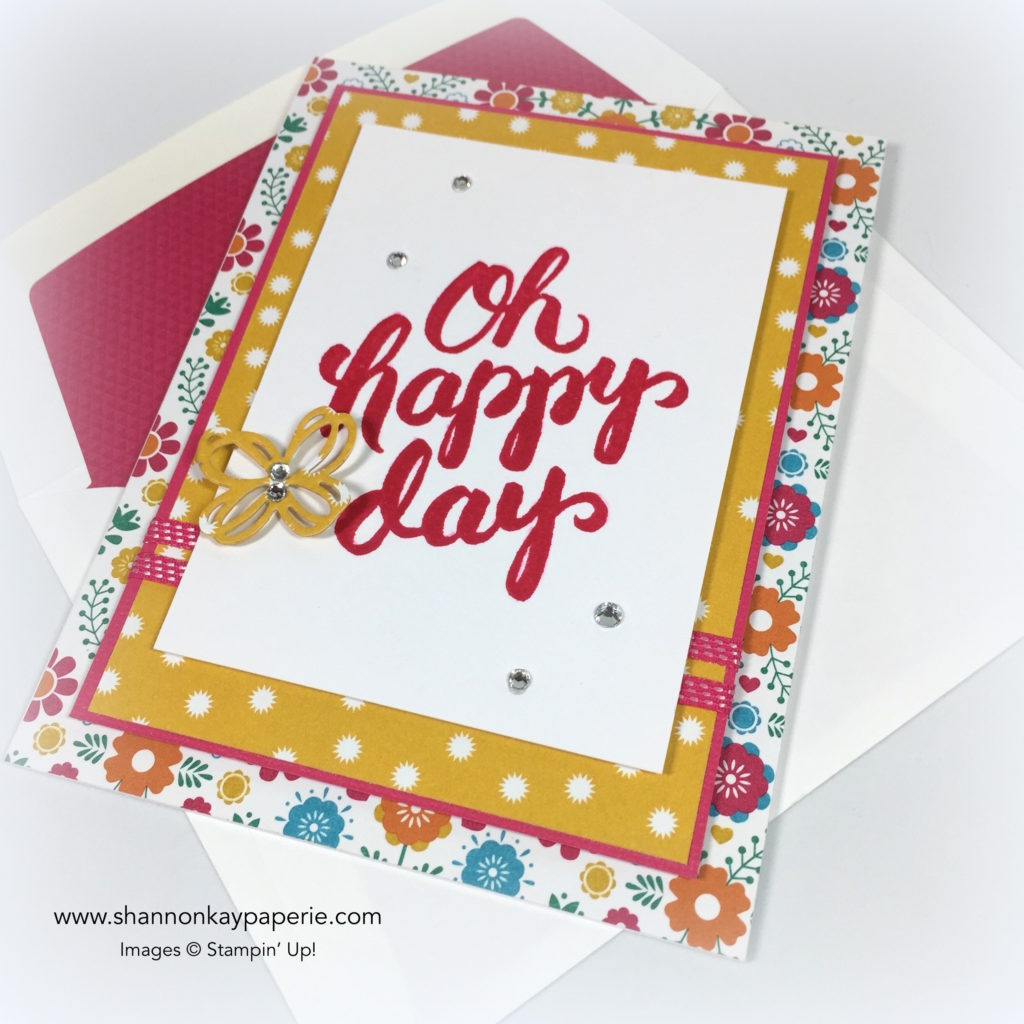 Stampin Up Scenic Sayings Celebration Card Idea - Shannon Jaramillo Stampinup