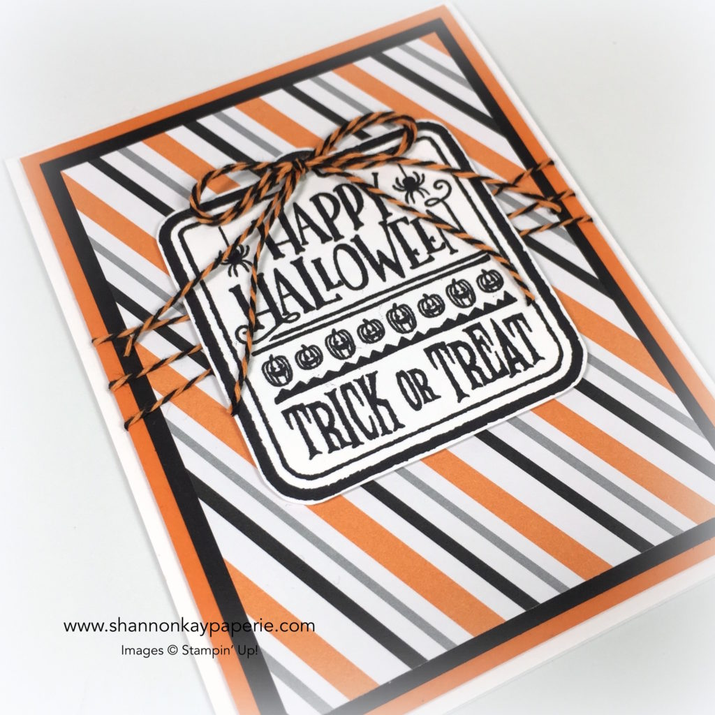 Stampin Up Spooky Fun Halloween Card Idea - Shannon Jaramillo Stampinup