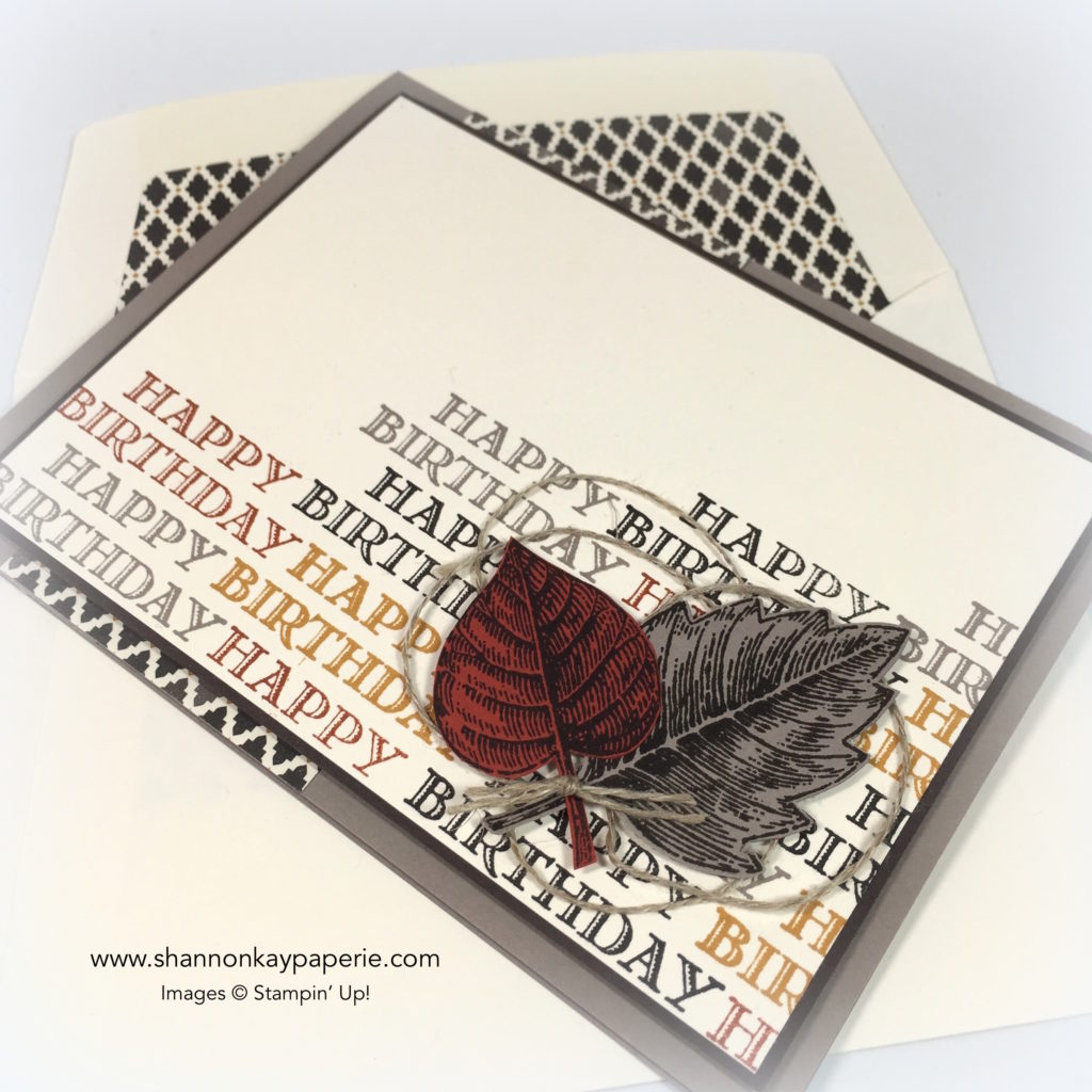 Stampin Up Vintage Leaves masculine Birthday Cards Ideas - Shannon Jaramillo Stampinup