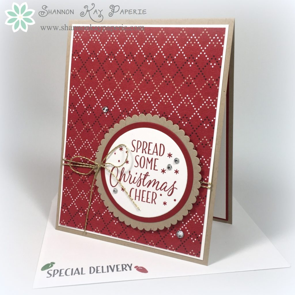 Warmth & Cheer CAS Christmas Card – 30 Day Card Challenge, Day 4 ...