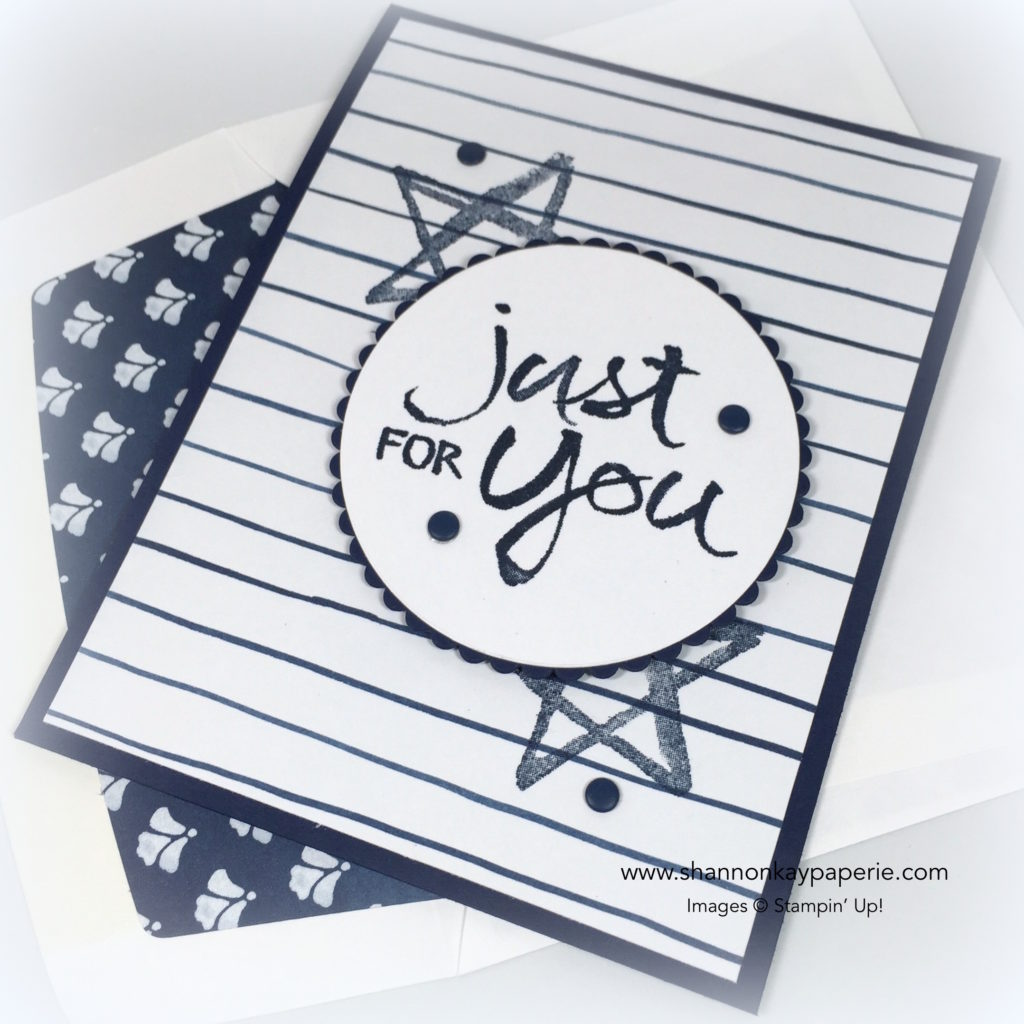 Stampin Up Watercolor Words Everyday Card Idea - Shannon Jaramillo Stampinup