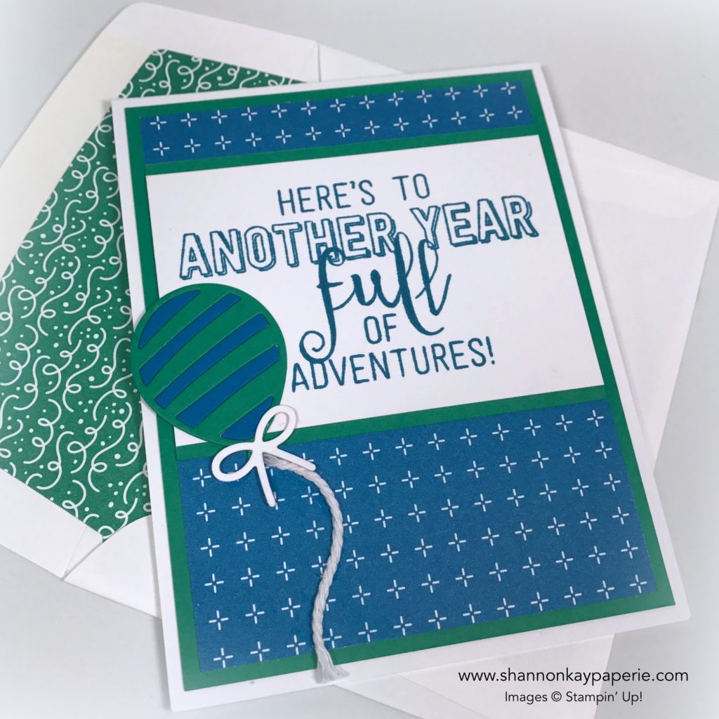 Bold Balloon Adventures Birthday Card Idea - Shannon Jaramillo Stampin Up