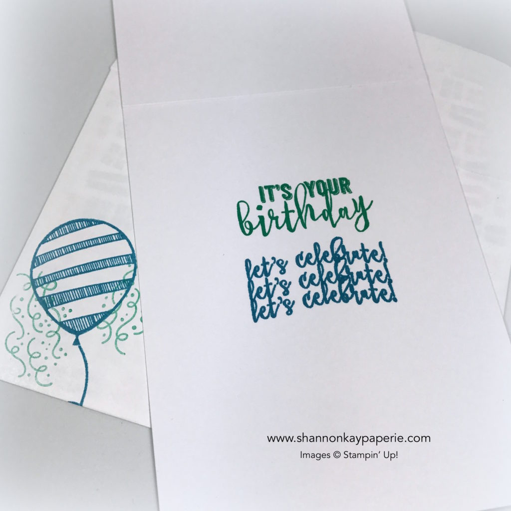 Bold Balloon Adventures Birthday Cards Idea - Shannon Jaramillo Stampin Up