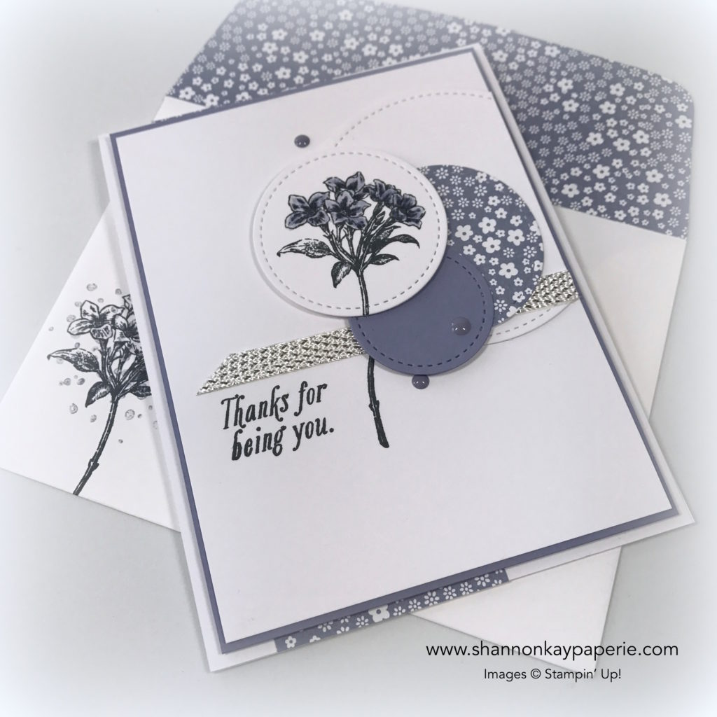 Sweet Avant-Garden Thank You Card Idea - Shannon Jaramillo Stampin Up