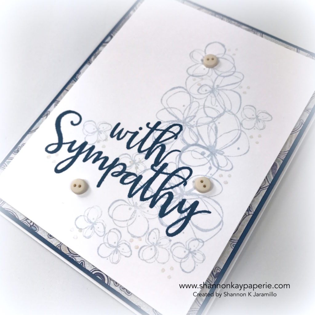 With Sympathy Sympathy Cards Idea - Shannon Jaramillo Lil Inkers