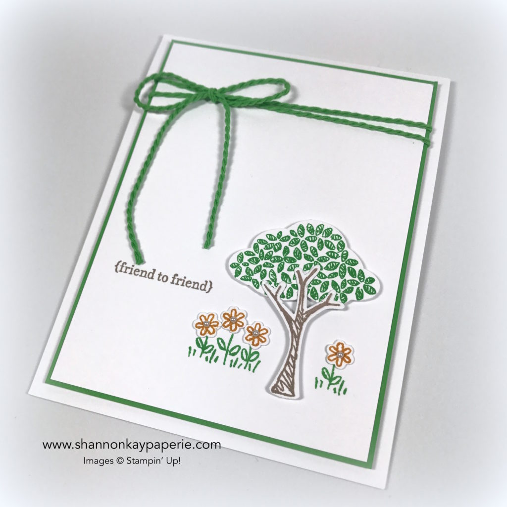 Rediscovering Cucumber Crush Just Because Card Idea - Shannon Jaramillo stampin up