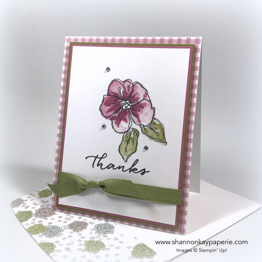 A Sweet Goodbye to Penned & Painted Card Ideas - Shannon Jaramillo Stampin Up