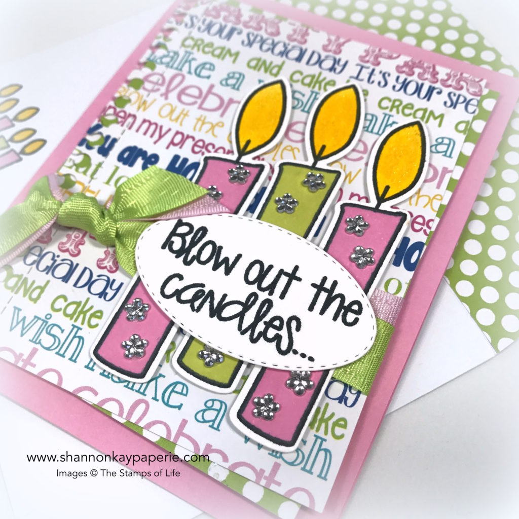 Blow Out the Candles Birthday Card idea - Shannon Jaramillo The Stamps of Life