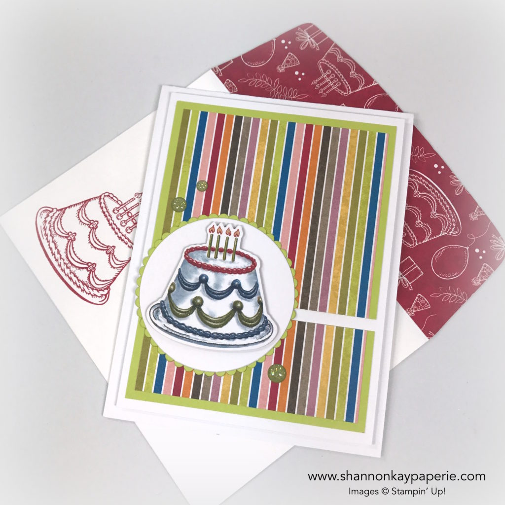 Birthday Memories Birthday Card Idea - Shannon Jaramillo Stampin Up