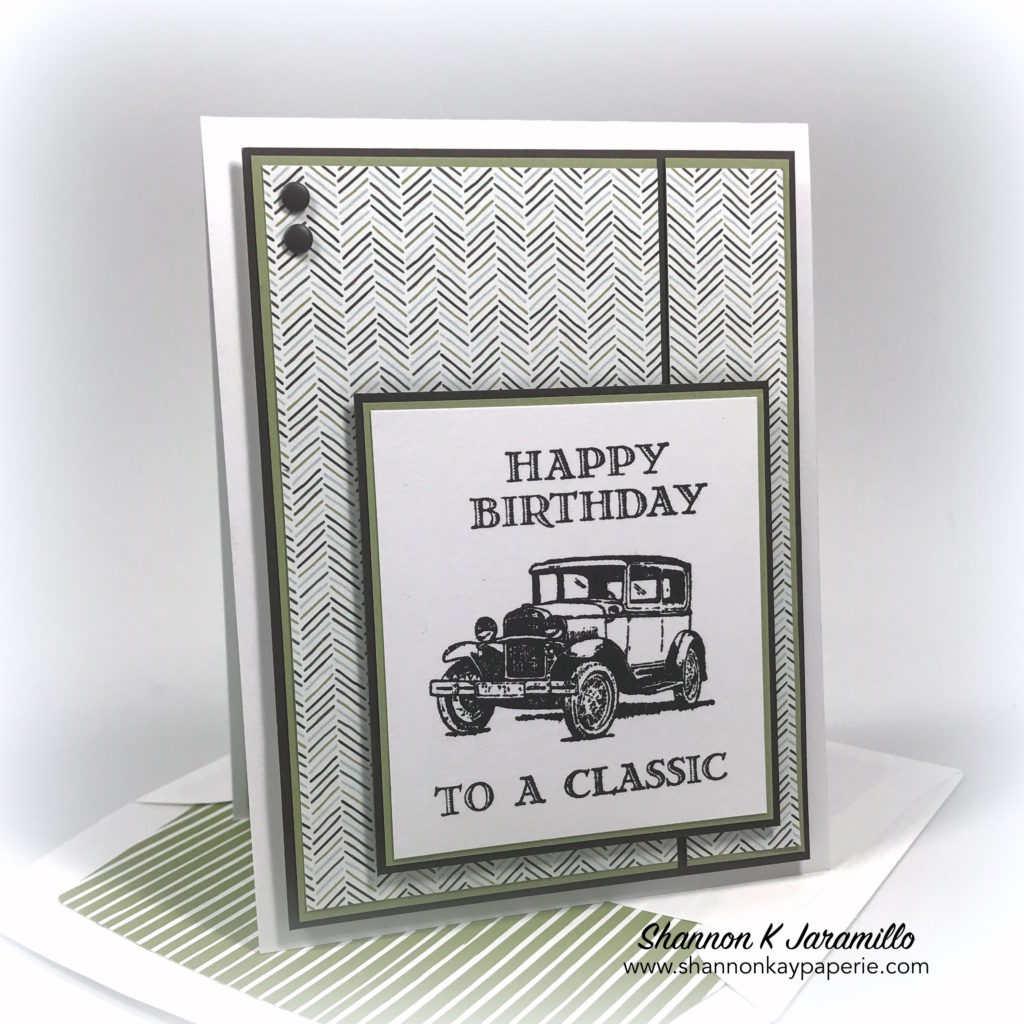 Happy birthday to a classic shannon kay paperie stampin up guy greetings masculine birthday card idea bookmarktalkfo Gallery