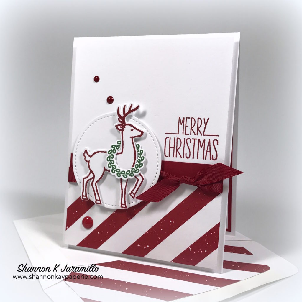 stampin up santas sleigh christmas card idea shannon - Christmas Photo Cards 2017